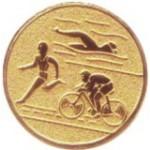 Эмблема для медалей алюминиевая  А135 Триатлон.