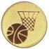 Эмблема для медалей алюминиевая  А136 Баскетбол.
