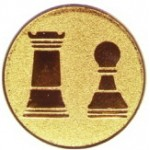 Эмблема для медалей самоклеющаяся  Шахматы.