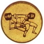 Эмблема для медалей алюминиевая  А 144 Жим лежа.