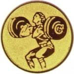 Эмблема для медалей алюминиевая  А 145 Тяжелая атлетика.