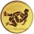Эмблема для медалей алюминиевая  А147 Борьба.