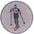 Эмблема для медалей алюминиевая  А148 Лыжные гонки.