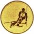 Эмблема для медалей алюминиевая  А149 Слалом.