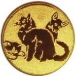 Эмблема для медалей алюминиевая  А150 Кошки.