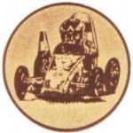 Эмблема для медалей алюминиевая  А153 Картинг.