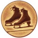Эмблема для медалей алюминиевая  А155 Коньки.