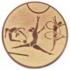 Эмблема для медалей алюминиевая  А156 Гимнастика.