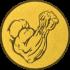 Эмблема для медалей алюминиевая  А161 Армрестлинг.