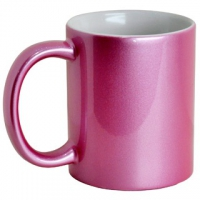 Кружка цветная розовая под сублимацию