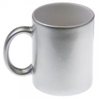 Кружка цветная серебряная под сублимацию.