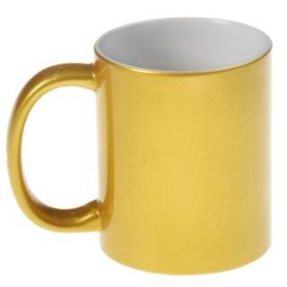 Кружка цветная золотая под сублимацию