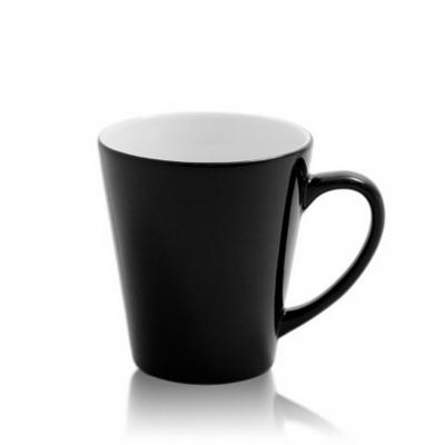 Кружка хамелеон Латте чёрная низкая под сублимацию.