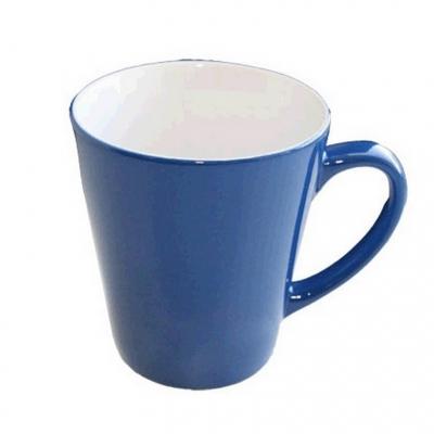Кружка хамелеон латте синяя высокая под сублимацию.
