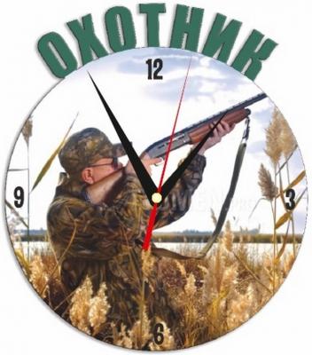 """Металлические часы """"Охотник"""" под нанесение 192x243 мм."""