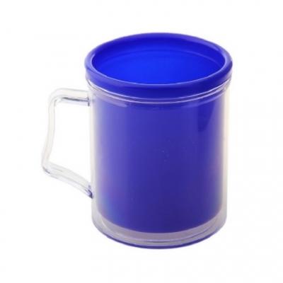 Кружка пластиковая под вставку фото-кружка Синяя