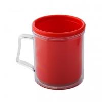 Кружка пластиковая под вставку фото-кружка Красная