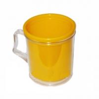 Кружка пластиковая под вставку фото-кружка Желтая