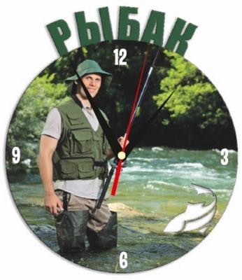 """Металлические часы """"Рыбак"""" под нанесение 192x243 мм."""