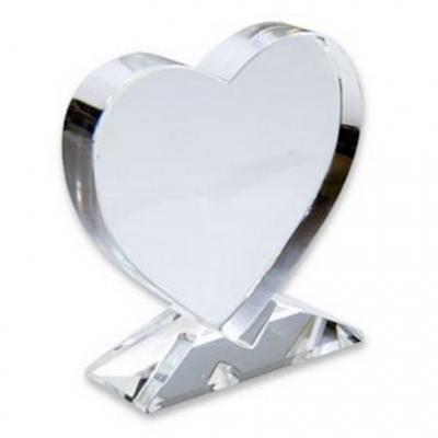 Фотокристалл Сердце на подставке 100*100*20 мм.