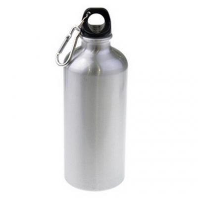 Металлическая фляга спортивная для воды 600 мл (металл, цвет серебро)