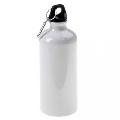 Металлическая фляга спортивная для воды 400 мл (металл, цвет белый)