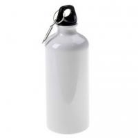 Металлическая фляга спортивная для воды 500 мл (металл, цвет белый)