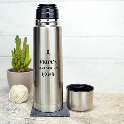 Металлическая фляга спортивная для воды 400 мл (металл, цвет серебро)