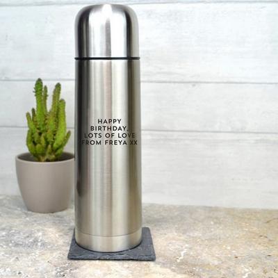 Металлический Термос 500мл (металл, цвет серебро)